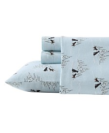 Eddie Bauer Novelty Print Twin XL Flannel Sheet Set