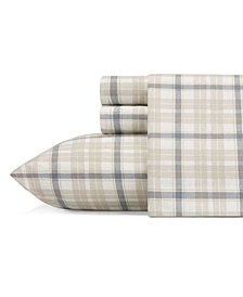 Eddie Bauer Full Plaid Flannel Sheet Set
