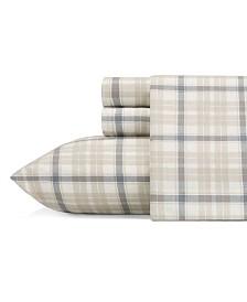 Eddie Bauer Twin Plaid Flannel Sheet Set