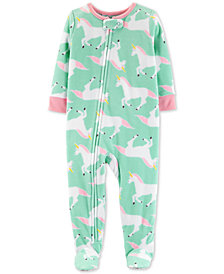 Carter's Toddler Girls Unicorn-Print Footed Pajamas