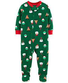 Carter's Toddler Boys Holiday-Print Footed Pajamas