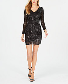GUESS Sequined Bodycon Dress