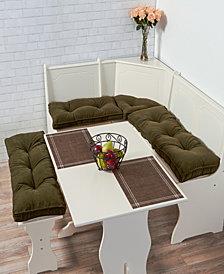 Cherokee Solid Microfiber 4 Piece Nook Cushion Set