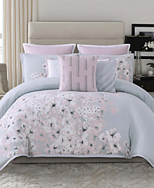 Vince Camuto Esti Floral King 3  Piece Duvet Cover Set