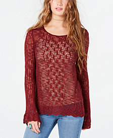 American Rag Juniors' Crochet-Lace Sweater, Created for Macy's