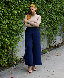 Verona Collection High-Waist Wrap Modest Pants