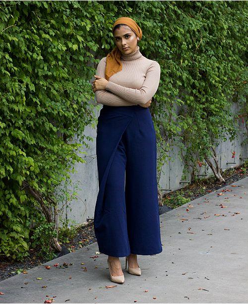 1a63e7668e82 Verona Collection High-Waist Wrap Modest Pants   Reviews - Pants ...