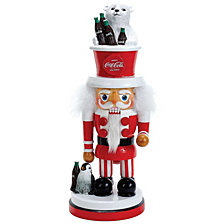 Kurt Adler 15 Inch Coca Cola Hollywood Nutcracker with Polar Bear Hat