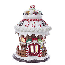 Kurt Adler Battery Operated Round LED Gingerbread House