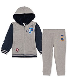 Little Boys 2-Pc. Paw Patrol Varsity Jacket & Joggers Set