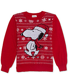 Peanuts Toddler Boys Snoopy Holiday Sweater