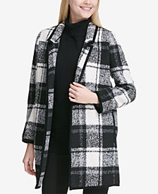 Calvin Klein Windowpane Plaid Coat