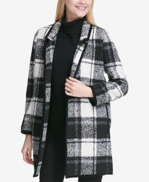 Calvin Klein Coats WINDOWPANE PLAID COAT