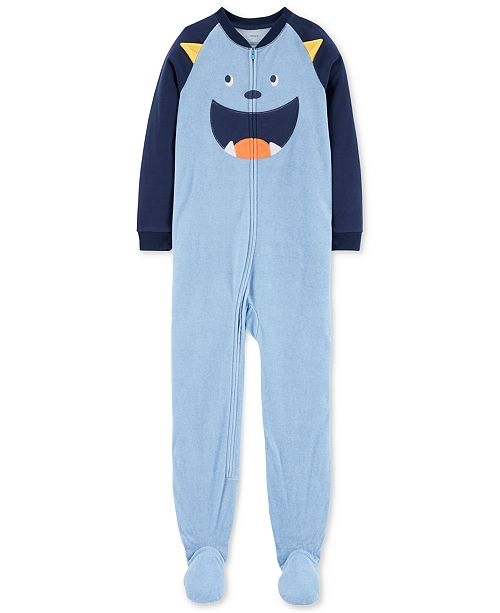 cfe99c59266b Carter s Little Boys 1-Pc. Monster Fleece Pajamas - Pajamas - Kids ...