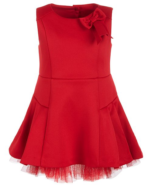 fd3c84e066dd First Impressions Baby Girls Scuba Tulle Dress