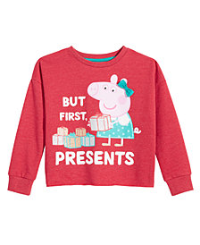 Peppa Pig Little Girls Graphic-Print Sweatshirt