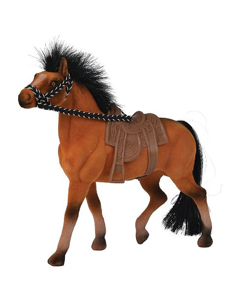 Simba Toys -Champion Beauty Horse With Saddle, Brown With Black Mane And Tail