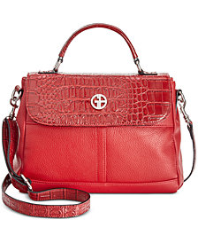 Giani Bernini Pebble-Crocodile Top-Handle Crossbody, Created for Macy's
