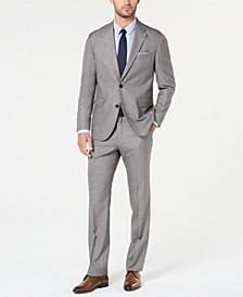 Men's Modern-Fit Light Gray Sharkskin Suit