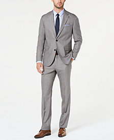 Dockers Men's Classic-Fit Light Gray Sharkskin Suit