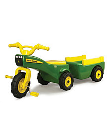 John Deere - Pedal Tractor And Wagon