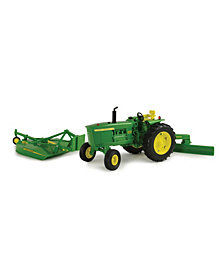 Tomy - 1-16 Scale Big Farm John Deere 4020 With Rear Blade And Mower