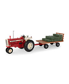 Big Farm 1-16 Ih 1206 Narrow Front Tractor With Hay Wagon And Bales