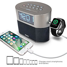 iHome Bluetooth Dual Alarm FM Clock Radio with Speakerphone