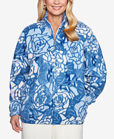 Alfred Dunner Printed Fleece Jacket