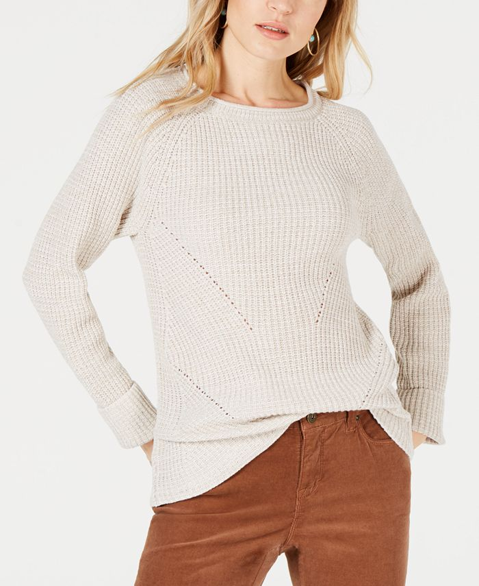 Style & Co - Plus Size Marl Pointelle Cuffed Sweater