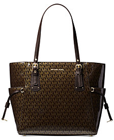 Michael Kors Signature Glossy Voyager East West Tote Created For Macy S