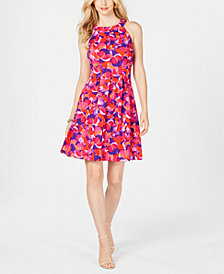 Pappagallo Floral Fit & Flare Dress