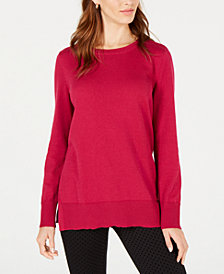 Maison Jules Crew-Neck Sweater, Created for Macy's