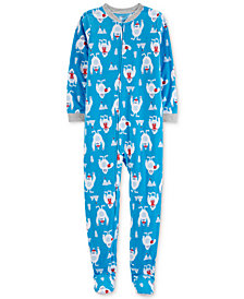 Carter's Little & Big Boys Yeti-Print Fleece Pajamas
