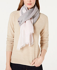 Calvin Klein Colorblocked Plaid Scarf