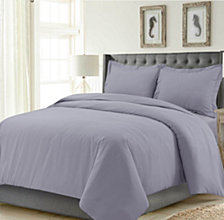 Madrid Solid Oversized Queen Duvet Cover Set