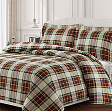 Charleston Cotton Flannel Printed Oversized Queen Duvet Set