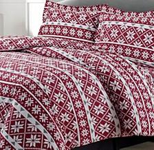 Oslo Cotton Flannel Printed Oversized Queen Duvet Set
