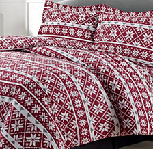 Oslo Cotton Flannel Printed Oversized Queen Duvet Set