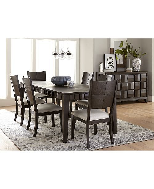 Furniture Matrix Dining Furniture, 7-Pc. Set (Table & 6 Side Chairs), Created for Macy's