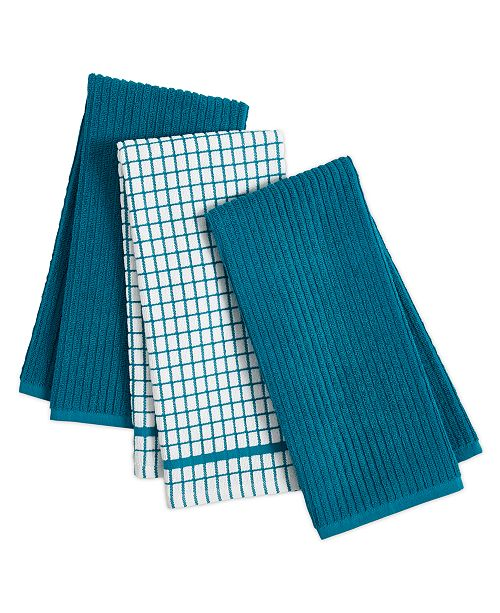 3 Pc Organic Cotton Kitchen Towel Set