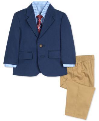 Size 6 or 7 Andy /& Evan Boy/'s Premium 4 Piece Vest Set