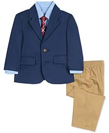 Baby Boys 4-Pc. Jacket, Shirt, Pants & Necktie Set