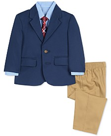 Nautica Baby Boys 4-Pc. Jacket, Shirt, Pants & Necktie Set