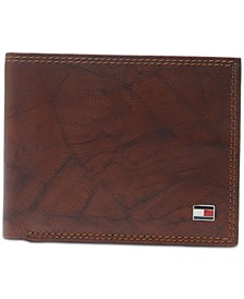 Men's Traveler Extra-Capacity Bifold Leather Wallet""