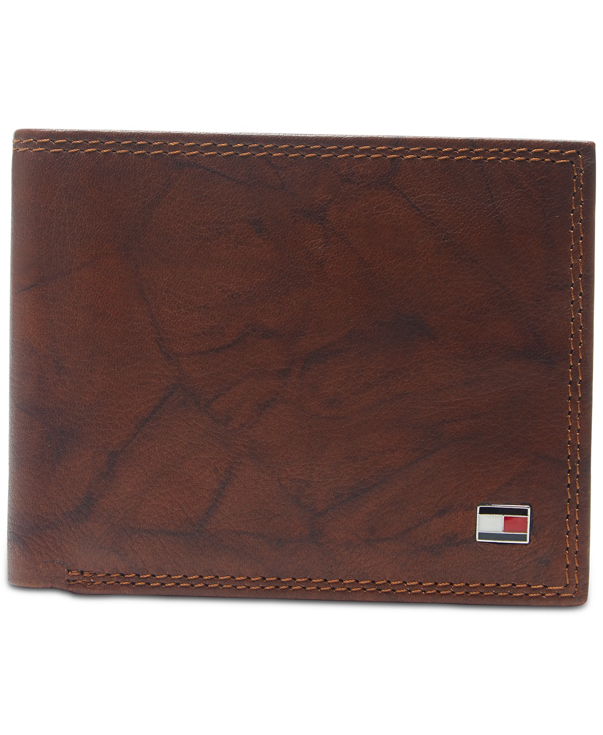 Men's Traveler Extra-Capacity Leather Wallet- Tommy Hilfiger