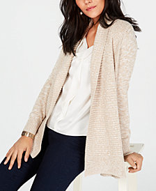 Charter Club Marled Shawl Collar Sweater, Created for Macy's