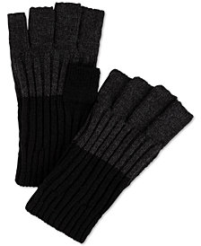 Calvin Klein Men's Colorblocked Fingerless Gloves