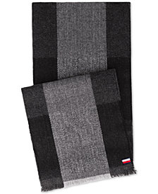 Tommy Hilfiger Men's Buffalo Plaid Scarf, Created for Macy's