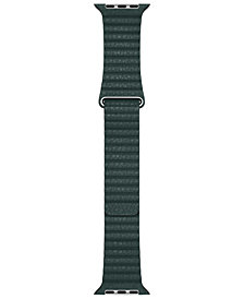 44mm Forest Green Leather Loop - Large